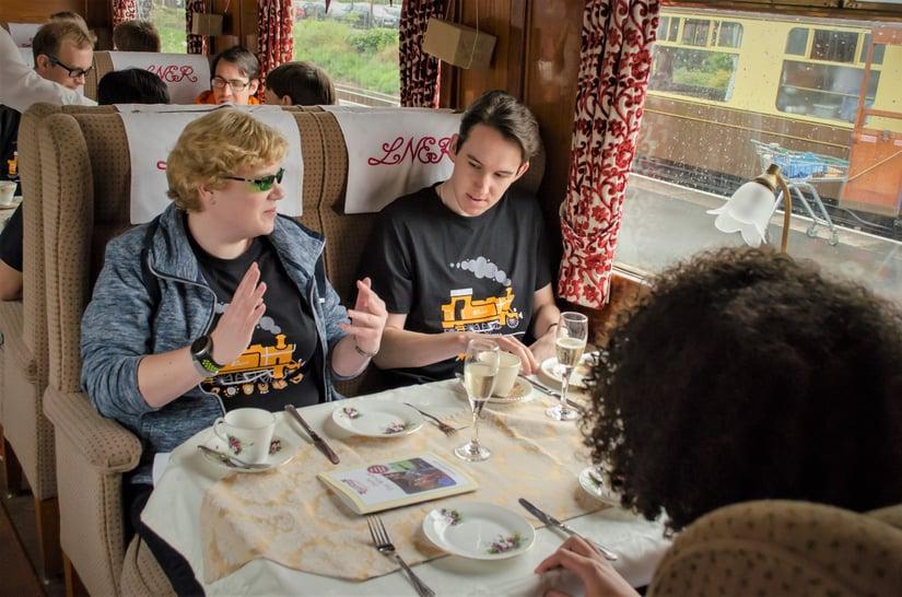 PW19 Di and Matt on train