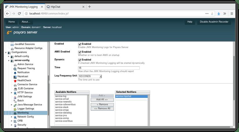 Monitoring JMX Using the Notification Service