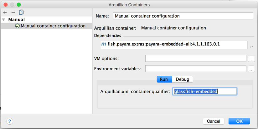 Using Payara Embedded as an Arquillian Container Inside IntelliJ IDEA