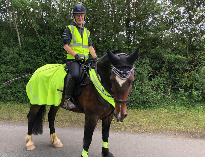 Sarah Payara Finance Manager and her Horse