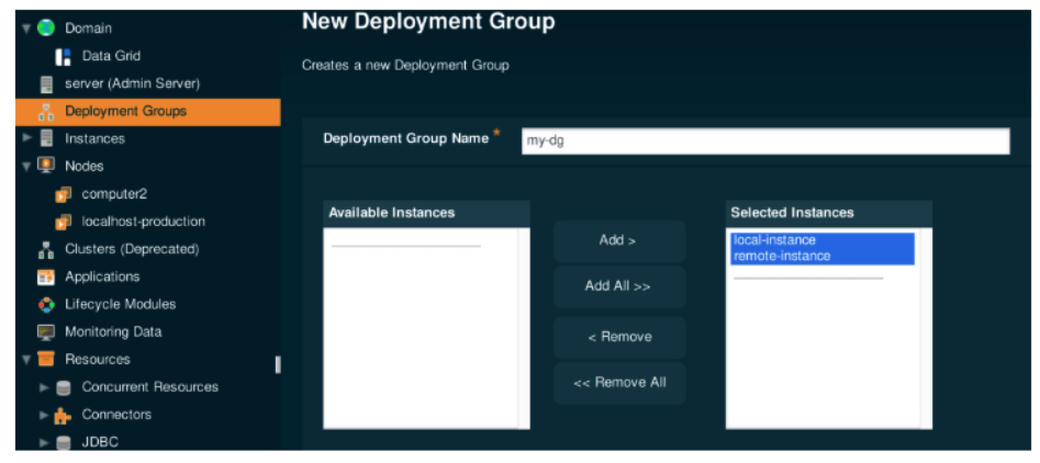 New Deployment Group in Payara Server