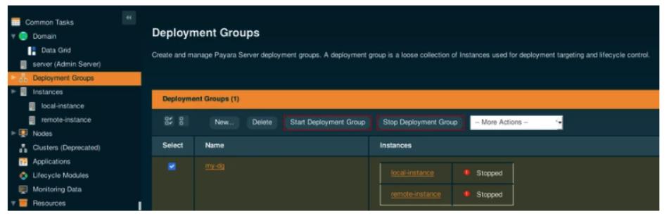 Deployment groups stopped in Payara Server