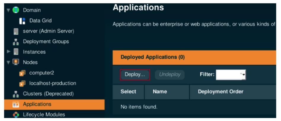 Deploy applications on payara server