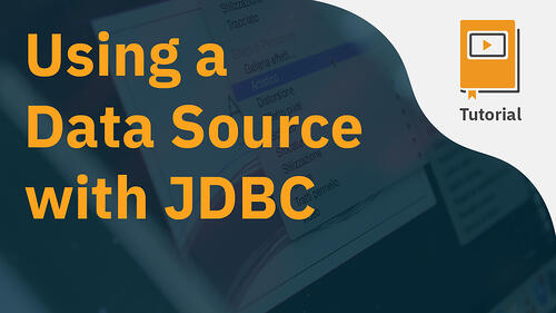 Data Source with JDBC