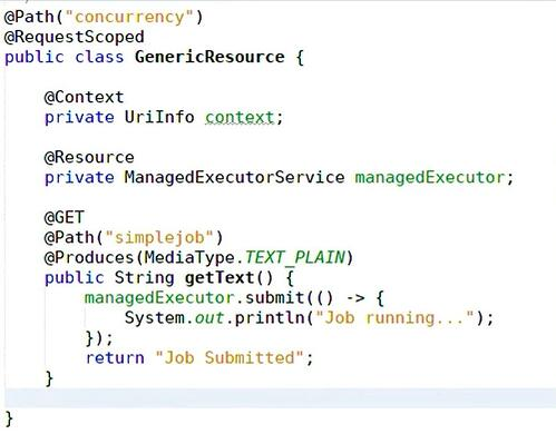 Example of Jakarta Concurrency code
