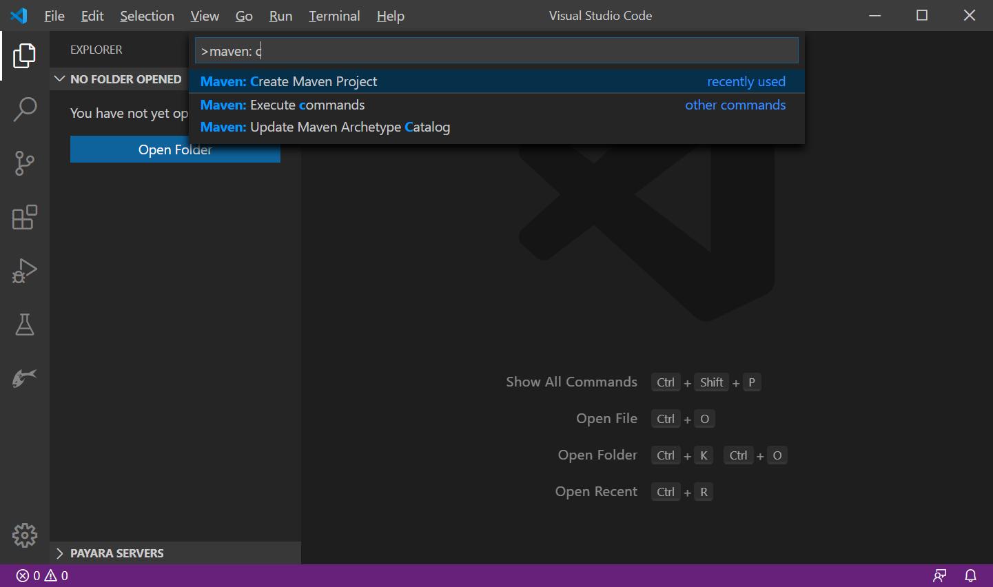 maven project screen shot