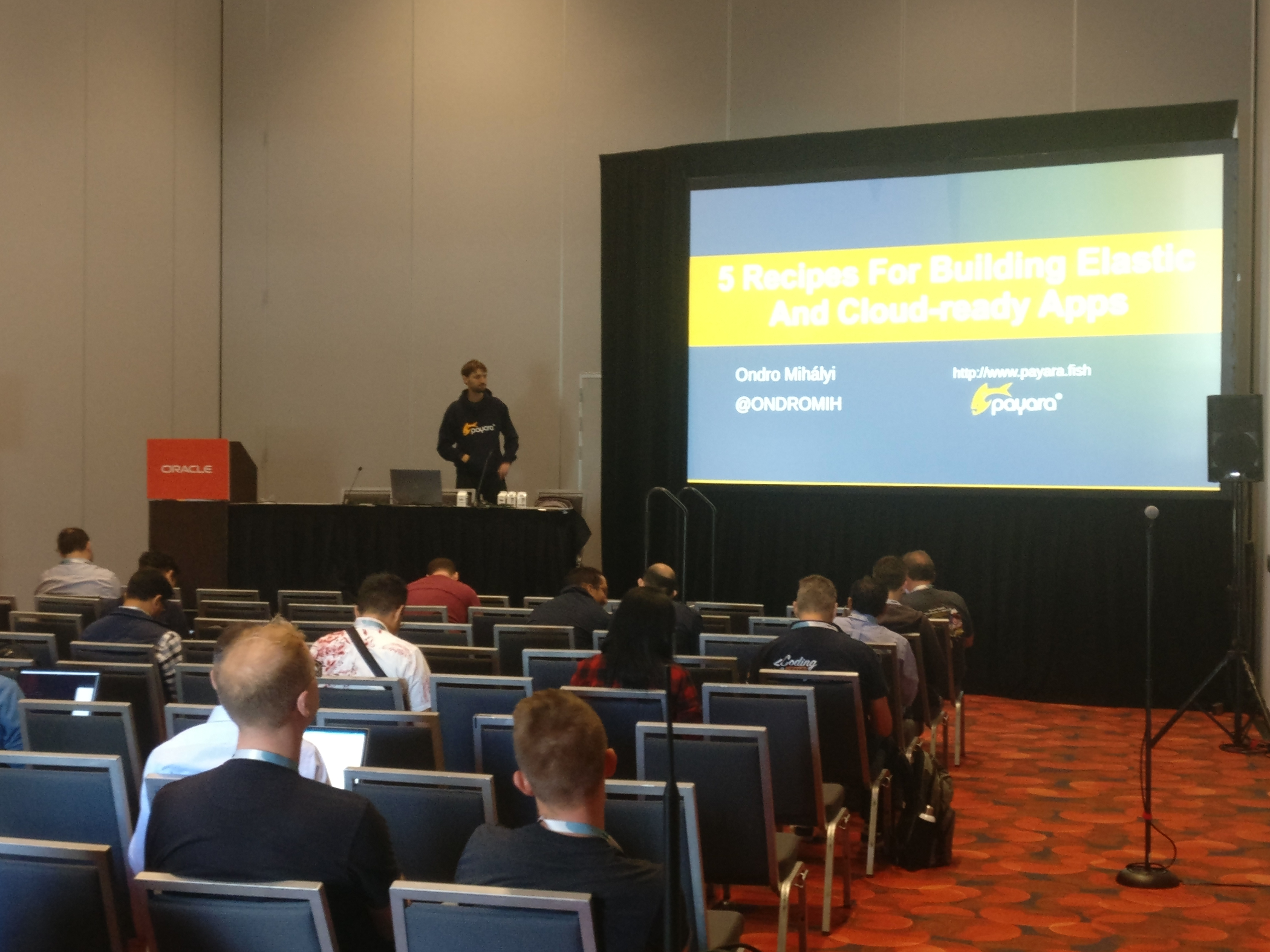 Ondrej presenting at Oracle Code One