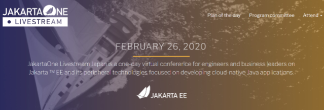 JakartaOne Livestream Japan 2020