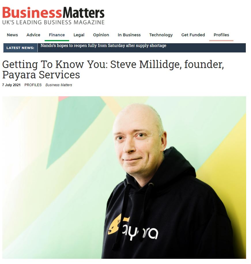 Getting to Know you Steve Millidge